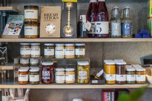 Jars of Food on Shelves